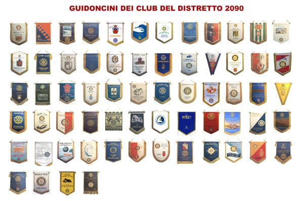 Guidoncini dei club del Distretto 2090